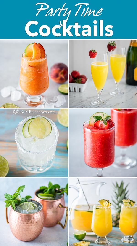 Best Cocktails Recipes for Parties, Summer, Holidays, Bridal Showers | BestRecipebox.com