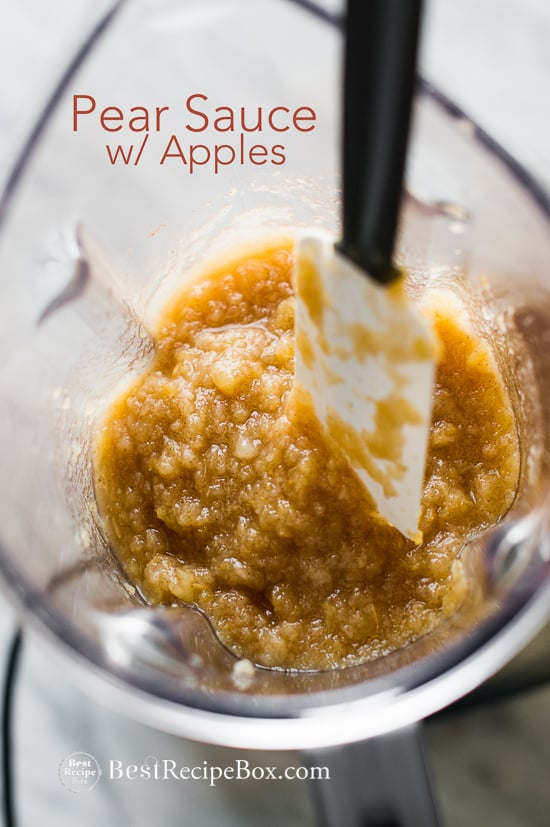 Homemade Pear Applesauce Recipe @bestrecipebox