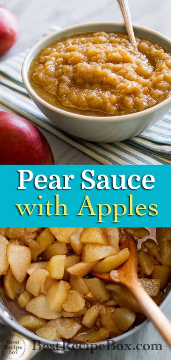 Homemade Pear Applesauce Recipe @bestrecipebox