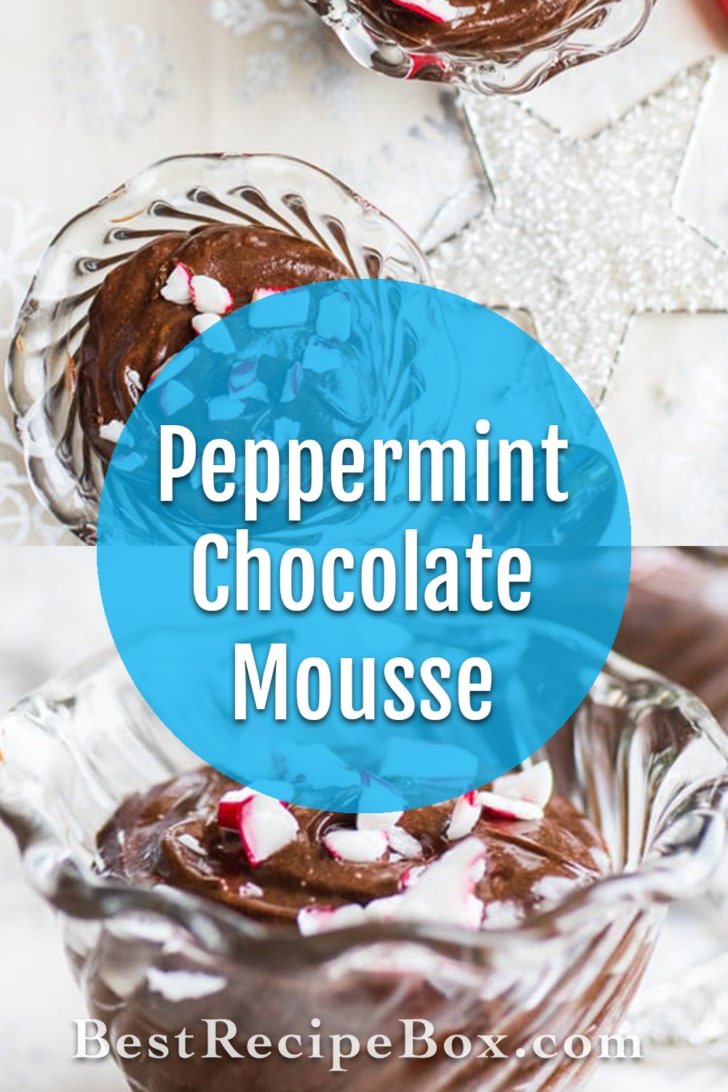 Christmas Chocolate Peppermint Mousse Recipe   @bestrecipebox