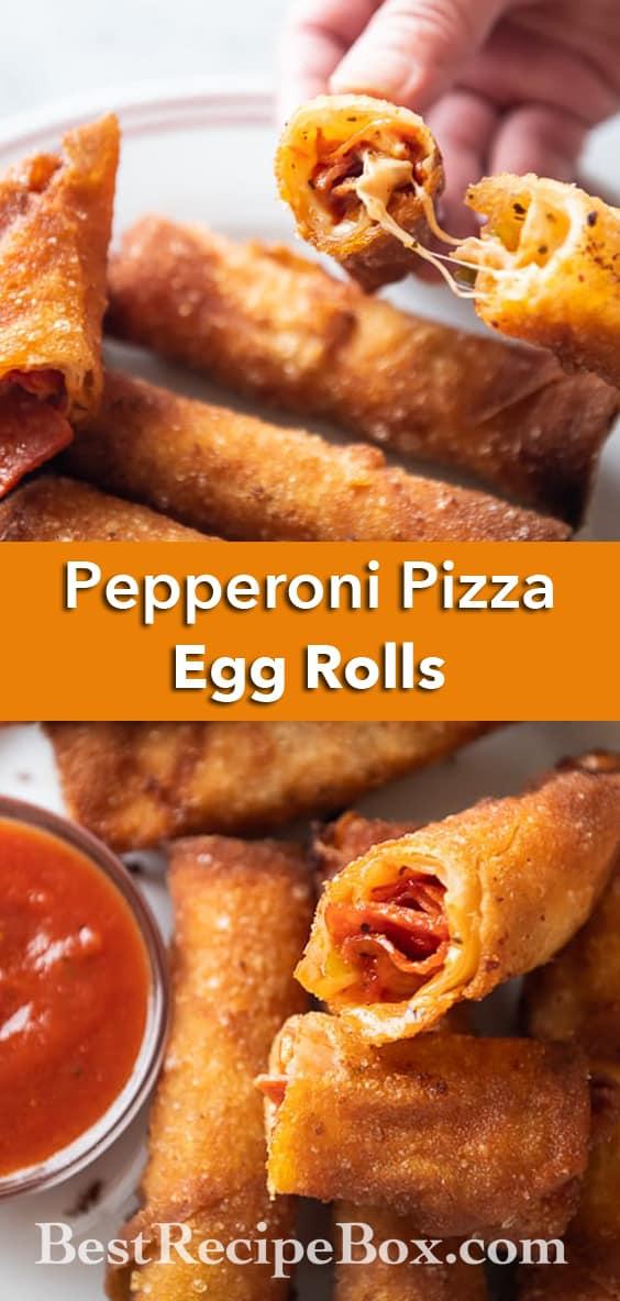 Pepperoni Pizza Egg Roll Recipe | BestRecipeBox.com