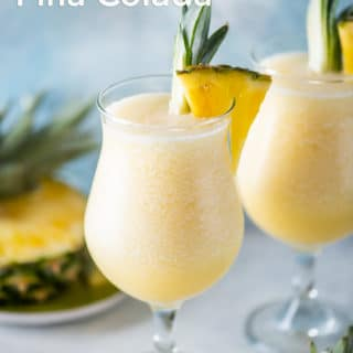 Easy Classic Pina Colada Recipe Frozen and Blended Cocktail Recipe | BestRecipeBox.com