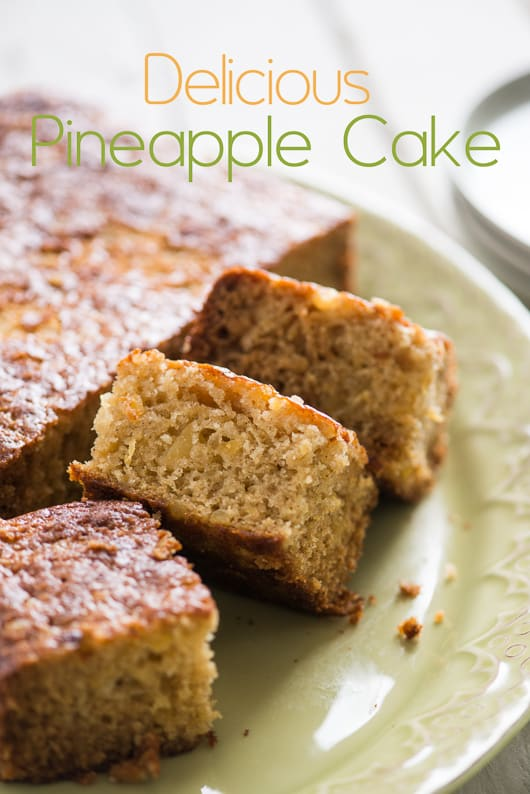 Easy Moist Pineapple Cake Recipe