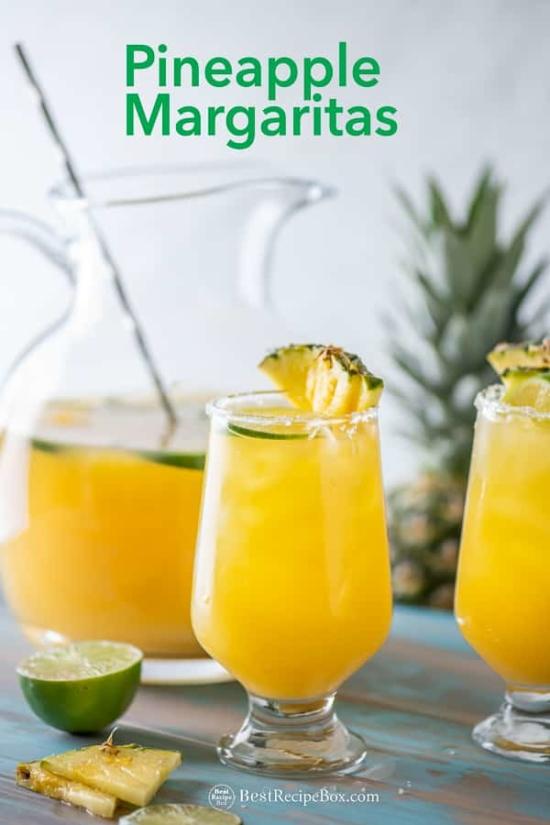 Best Pineapple Margaritas Recipe in a glass