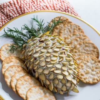 Pinecone Cheese Ball for an easy Holiday Cheese Ball Recipe | @bestrecipebox