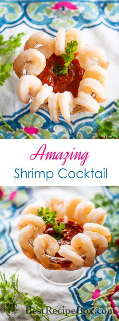 Best Shrimp Cocktail Recipe with Homemade Shrimp Cocktail Sauce Recipe @bestrecipebox