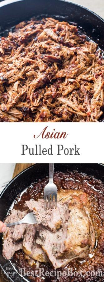 Best Asian Pulled Pork Recipe for Pulled Pork Tacos, Slicers | @bestrecipebox