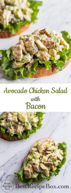 Avocado Chicken Salad Recipe with Bacon | Best Chicken Salad Recipe | @bestrecipebox
