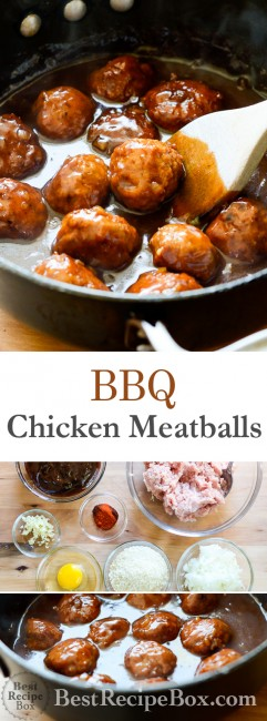 Best Juicy BBQ Chicken Meatball Recipe you'll ever make | @bestrecipebox