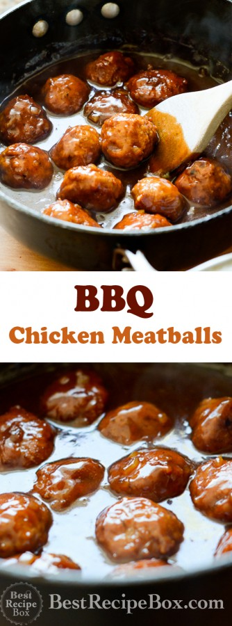 Best Juicy BBQ Chicken Meatball Recipe you'll ever make   @bestrecipebox