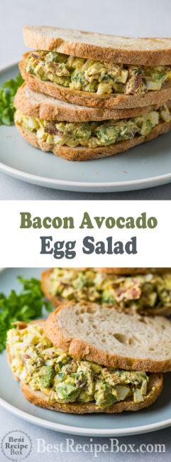 Bacon Avocado Egg Salad Recipe Best Egg Salad Recipe | @bestrecipebox