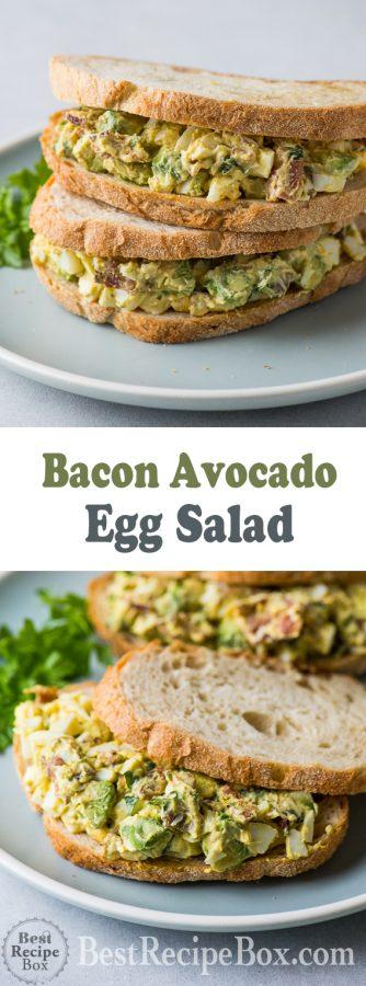 Bacon Avocado Egg Salad Recipe Best Egg Salad Recipe | @bestrecipebox