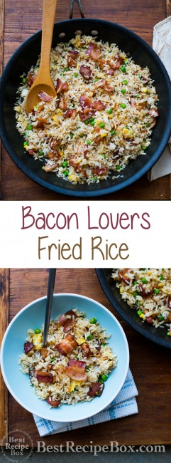 Easy Bacon Fried Rice Recipe for Bacon Lovers on BestRecipeBox.com