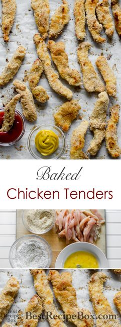 Healthy Baked Chicken Tenders Recipe | @BestRecipeBox