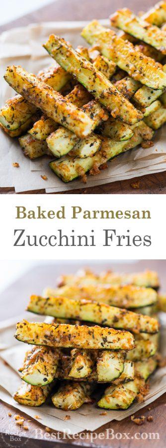 Baked Parmesan Zucchini Fries | @bestrecipebox