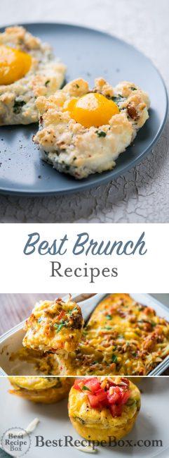 Best Brunch Recipes for Sunday Brunch or Easter Brunch | @bestrecipebox