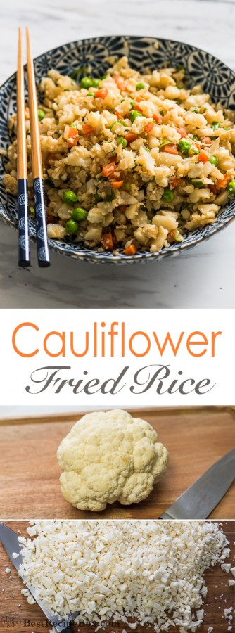 Cauliflower Fried Rice Recipe is Healthy and Amazing!   @bestrecipebox