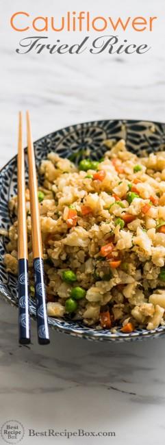 Cauliflower Fried Rice Recipe is Healthy and Amazing! | @bestrecipebox