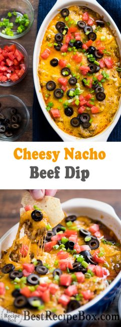 Beef Nacho Cheese Dip Best Appetizer Recipe | @bestrecipebox