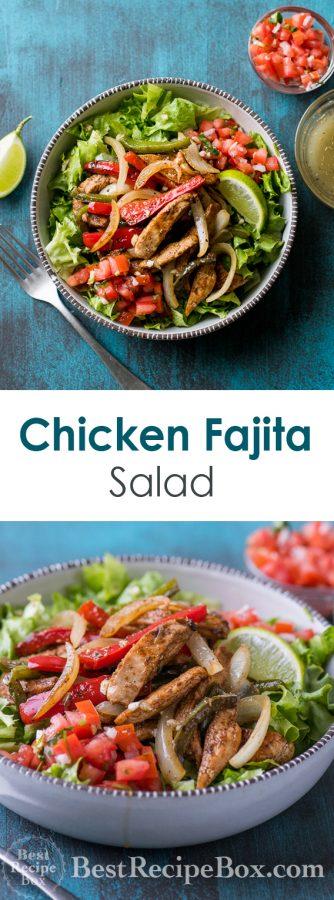 Chicken Fajita Salad Recipe | @bestrecipebox