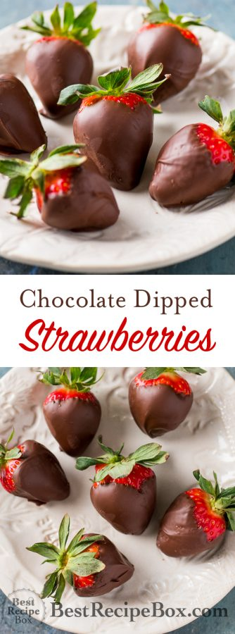 Chocolate Dipped Strawberries and Valentines Chocolate Dessert Recipe | @bestrecipebox