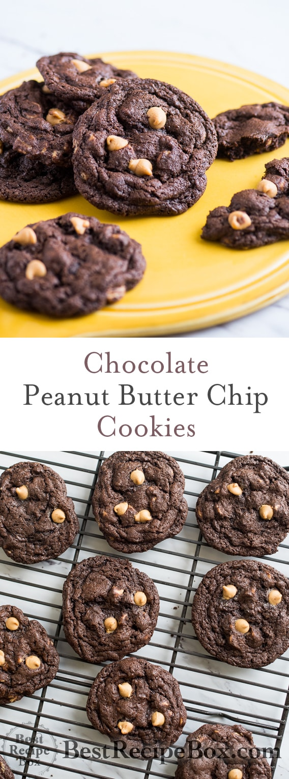 Soft and Chewy Chocolate Peanut Butter Chip Cookies | @bestrecipebox