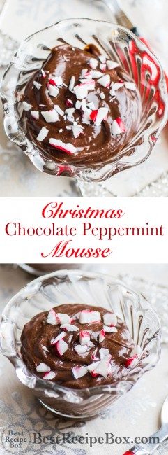 Christmas Chocolate Peppermint Mousse Recipe | @bestrecipebox