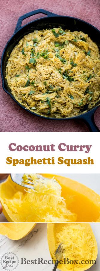 Coconut Curry Spaghetti Squash Recipe | @bestrecipebox