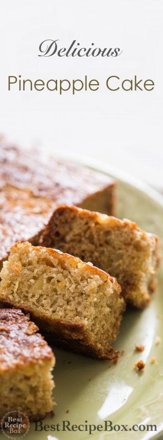 Easy, Moist and Spiced Pineapple Cake Recipe on @bestrecipebox