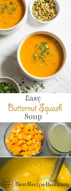 Easy 2-Ingredient Butternut Squash Soup Recipe that's quick and delicious!   @bestrecipebox