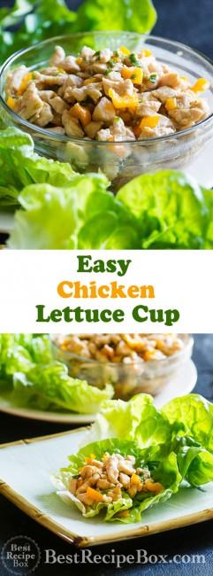 Chicken Lettuce Cups Recipe from ChickenRecipeBox.com