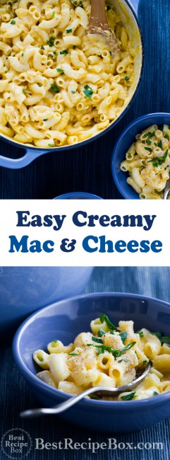 Amazing and easy stovetop creamy mac and cheese recipe from @bestrecipebox