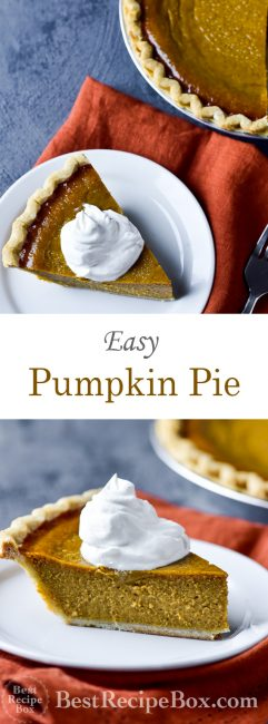 Easy Pumpkin Pie Recipe for Best Thanksgiving Pumpkin Pie Ever | @bestrecipebox