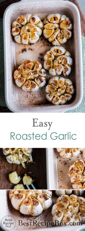 Easy Roasted Garlic Recipe for Garlic Salad Dressing Recipe | @bestrecipebox