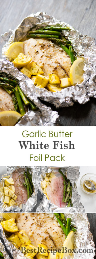 Garlic Butter White Fish Foil Pack | Healthy White Fish Recipe @bestrecipebox