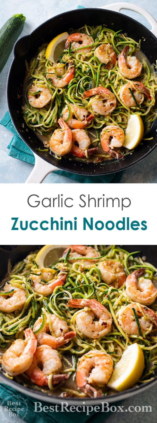 Garlic Shrimp Zucchini Noodles Recipe @bestrecipebox