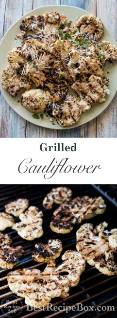 Garlic Grilled Cauliflower Recipe with Parmesan Cheese | @bestrecipebox