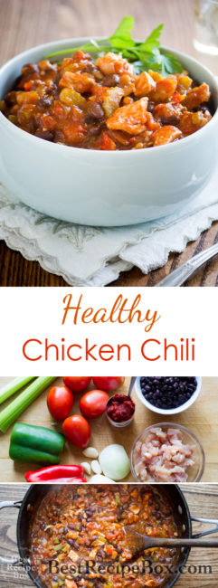 Healthy chicken chili recipe and such an easy chicken chili @bestrecipebox