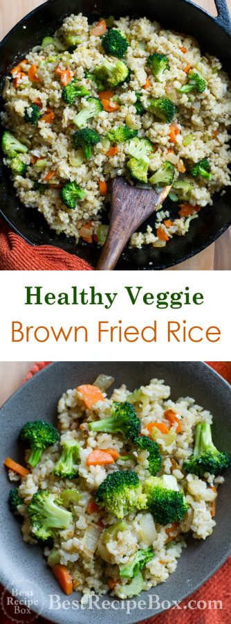 Healthy Fried Brown Rice Recipe with Tons of Veggies   @bestrecipebox