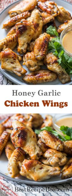Honey Mustard Chicken Wings Recipe | @BestRecipeBox
