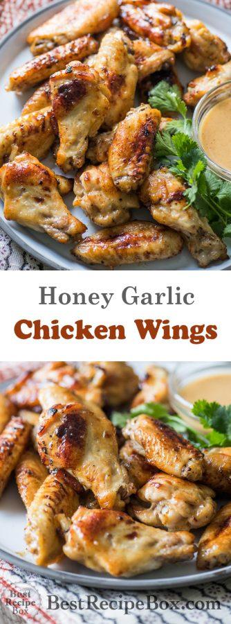 Honey Mustard Chicken Wings Recipe | @BestRecipeBox