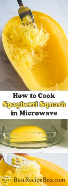 How to cook spaghetti squash in the microwave | @bestrecipebox