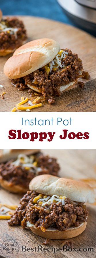 Instant Pot Sloppy Joes Recipe in Pressure Cooker or Slow Cooker | @bestreciepbox