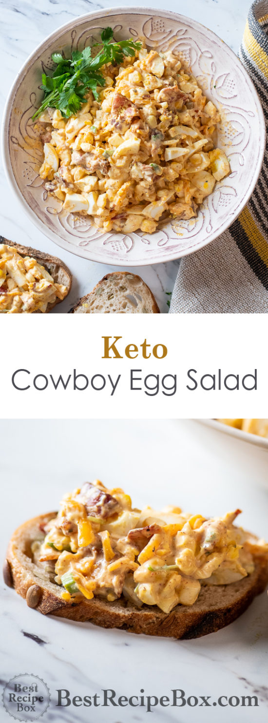 Cowboy Egg Salad Recipe for Keto Egg Salad Recipe | @BestRecipeBox