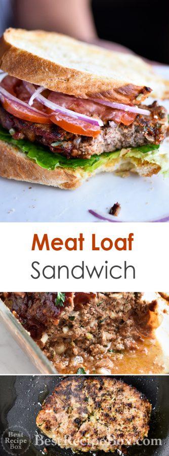 Leftover Meatloaf Sandwich from Juicy Meatloaf Recipe | @bestrecipebox