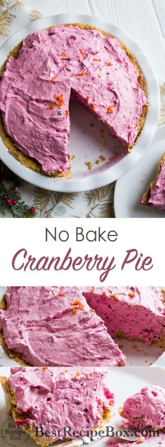 No Bake Cranberry Pie Recipe | @bestrecipebox