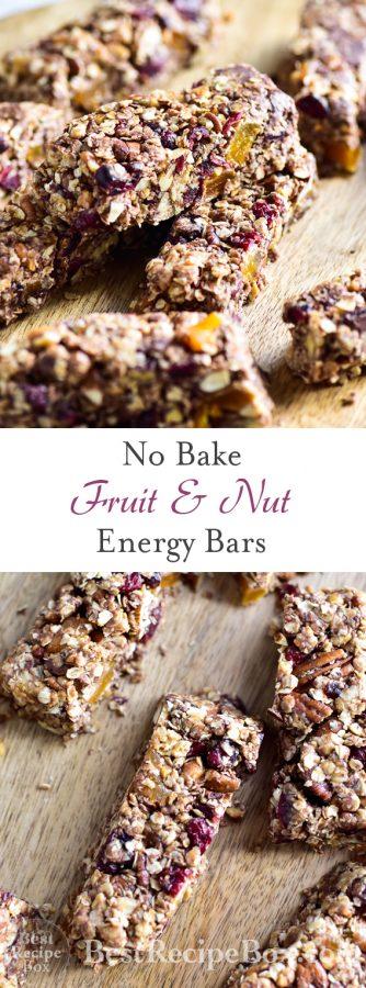 No Bake Peanut Butter Oat Energy Bars @bestrecipebox
