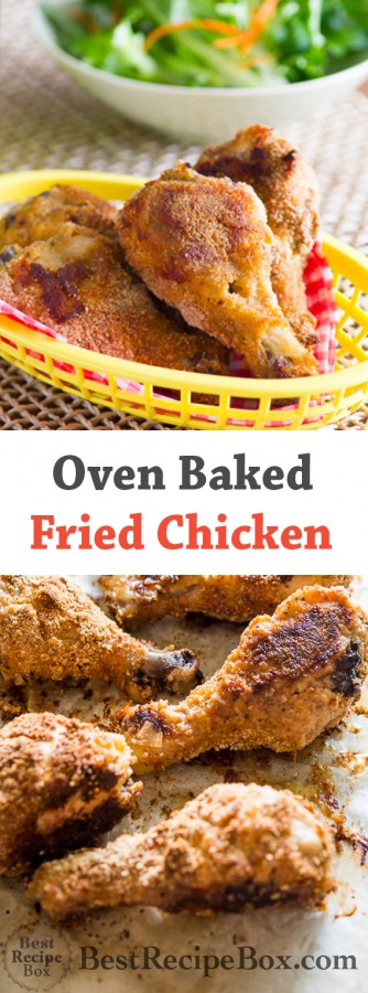 Baked Fried Chicken Recipe is delicious, healthy and crispy ! @bestrecipebox