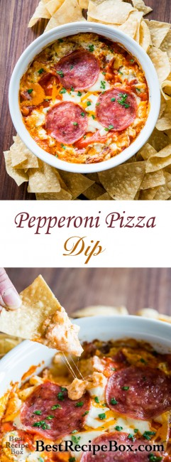 Amazing Pepperoni Pizza Cheese Dip Recipe that people will devour | @bestrecipebox