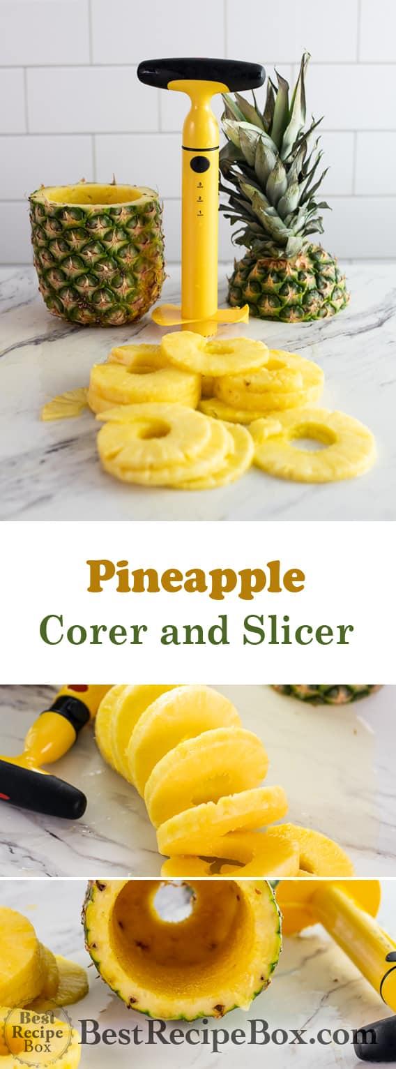 Pineapple Corer-Slicer Tool for How to Cut Pineapple @bestrecipebox